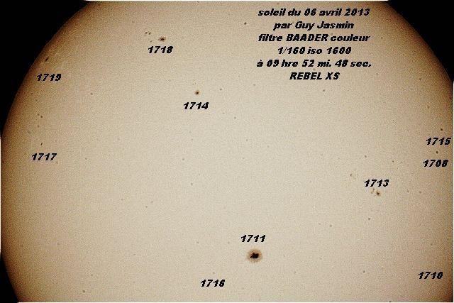 Beaucoup de petites taches mais la 1711 vient de passer de 1 jour la position idéal donc encore 2 ou 3 jours et le temps devrait changer