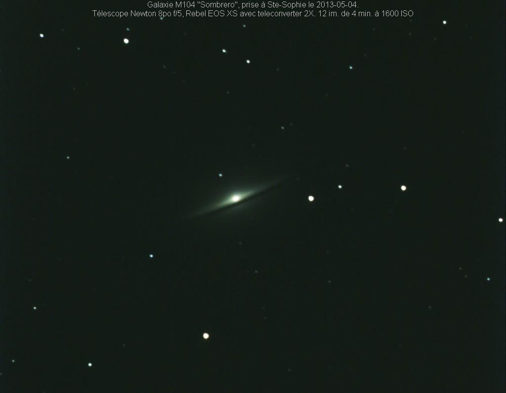 Galaxie photographiée dans la pollution lumineuse de St-Jérôme.