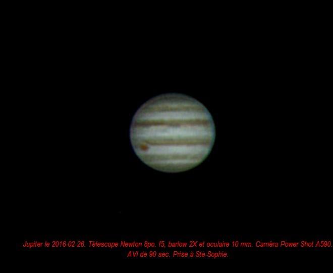 Jupiter le 2016-03-26