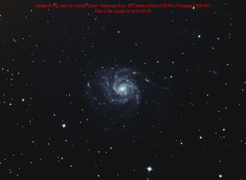 M101, le 2016-03-29